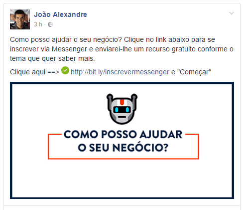 Bot Ajudante post Facebook