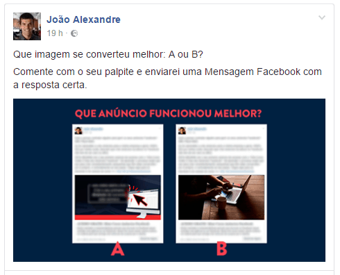 Bot Engajador post Facebook